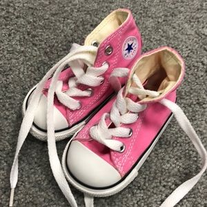 Pink Converse All Star Infant Sneakers Size 3